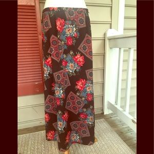 Kathie Lee Floral Maxi Skirt 12 FREE SHIP